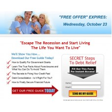 Template: Debt Relief Squeeze Page